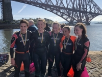 Boness ASC swimmers taking part in the Firth of Forth Swim 2019!